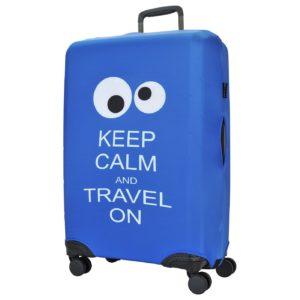 чехол для чемодана с глазами