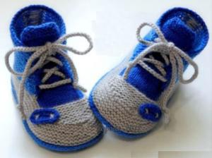 Кеды 1 серо-синие