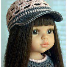 кепка для куклы с козырьком