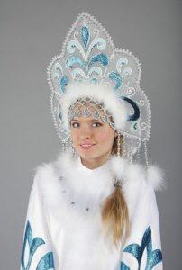 кокошник для костюма снегурочки