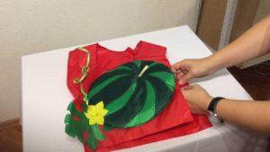 как сделать костюм арбуза своими руками