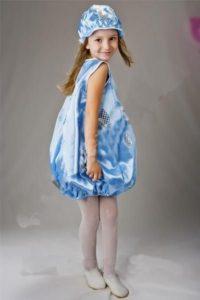 костюм капельки на девочке