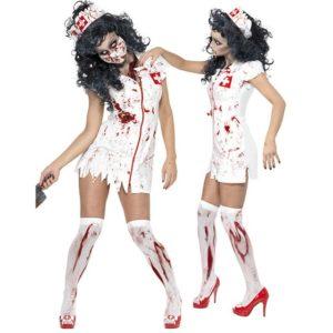 медсестра зомби для хэллоуина