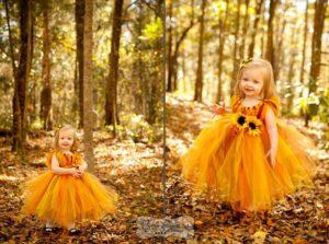 костюм золотой осени на девочке