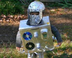 костюм робота из фольги