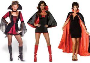разные модели костюма вампирши