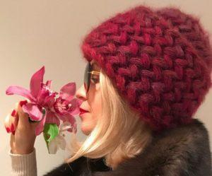 Красная шапочка из мохера