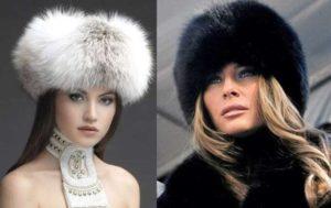 варианты меховых женских шапок