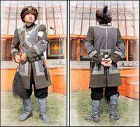 мужской якутский костюм