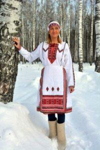 зимний марийский костюм