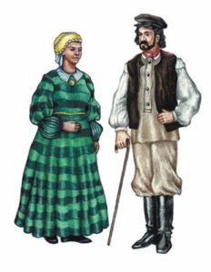 Национальный древний еврейский костюм