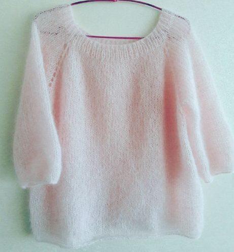 Нежно-розовый свитер 3