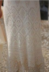 Низ вязаного сарафана
