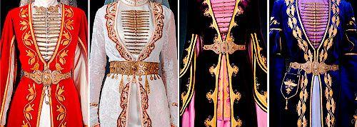 Нагрудные застежки у осетинской невесты