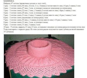 Розовая манишка в форме цветка