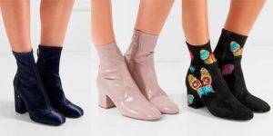 модели ботильонов носков