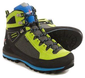 Черно-зеленые ботинки для хайкинга