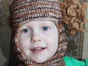 Кофейная шапка для мальчика
