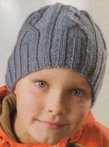 Серая шапка для мальчика