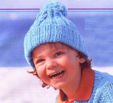 Голубая шапка для мальчика