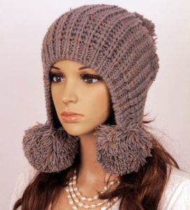 вязанная шапка ушанка своими руками