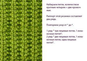 Схема ложной резинки