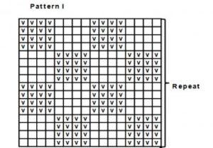 """Схема_4 """"шахматка"""" для бордового берета"""