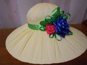 Шляпа своими руками с цветами