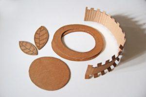 Детали шляпы из картона