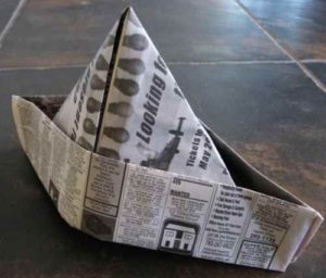 Шляпа из газеты