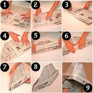 Схема 2 как сложить газету