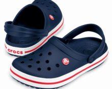 Синяя обувь Крокс