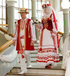 Современные белорусские свадебные костюмы