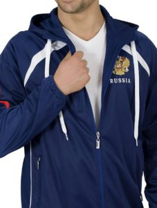 Синий спортивный мужской костюм