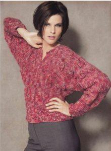 Красноватый свитер