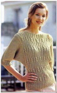 Бежевая модель свитера