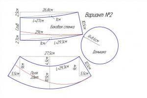 Треуголка выкройка 1
