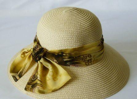 Украшение лентами шляп