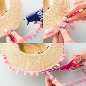 Украшение полей шляпы