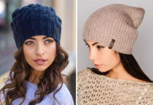 модели вязанных шапок