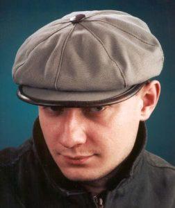 Бежевая кепка мужская