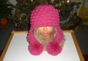 зимняя шапка для девочки крючком