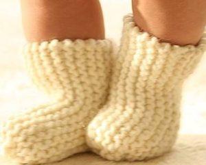 Простые носочки для малыша