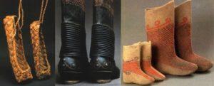 Старинная обувь белорусских костюмов