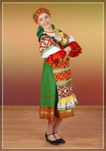Белорусский женский костюм