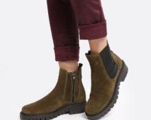 ботинки цвета хаки