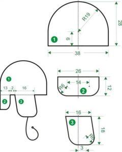 детали шапки-шлема