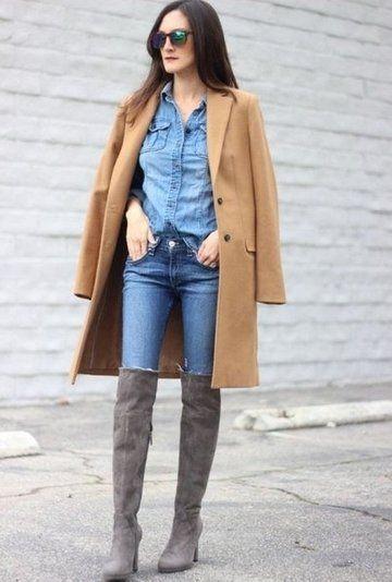 джинсы и вельетовые сапоги