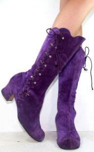 фиолетовые сапоги