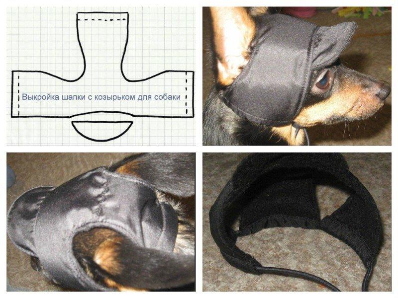 Пошив шапки для собаки, выкройка